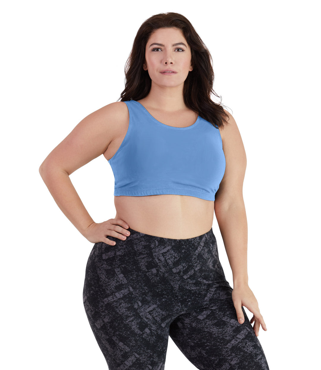 UltraKnit™ Full Fit Scoop Bra-Plus Size Underwear & Intimates-Paddy Lee-Full-XL-Soft Blue-JunoActive