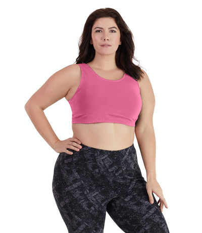 UltraKnit™ Full Fit Scoop Bra-Plus Size Underwear & Intimates-Paddy Lee-Full-XL-Strawberry-JunoActive