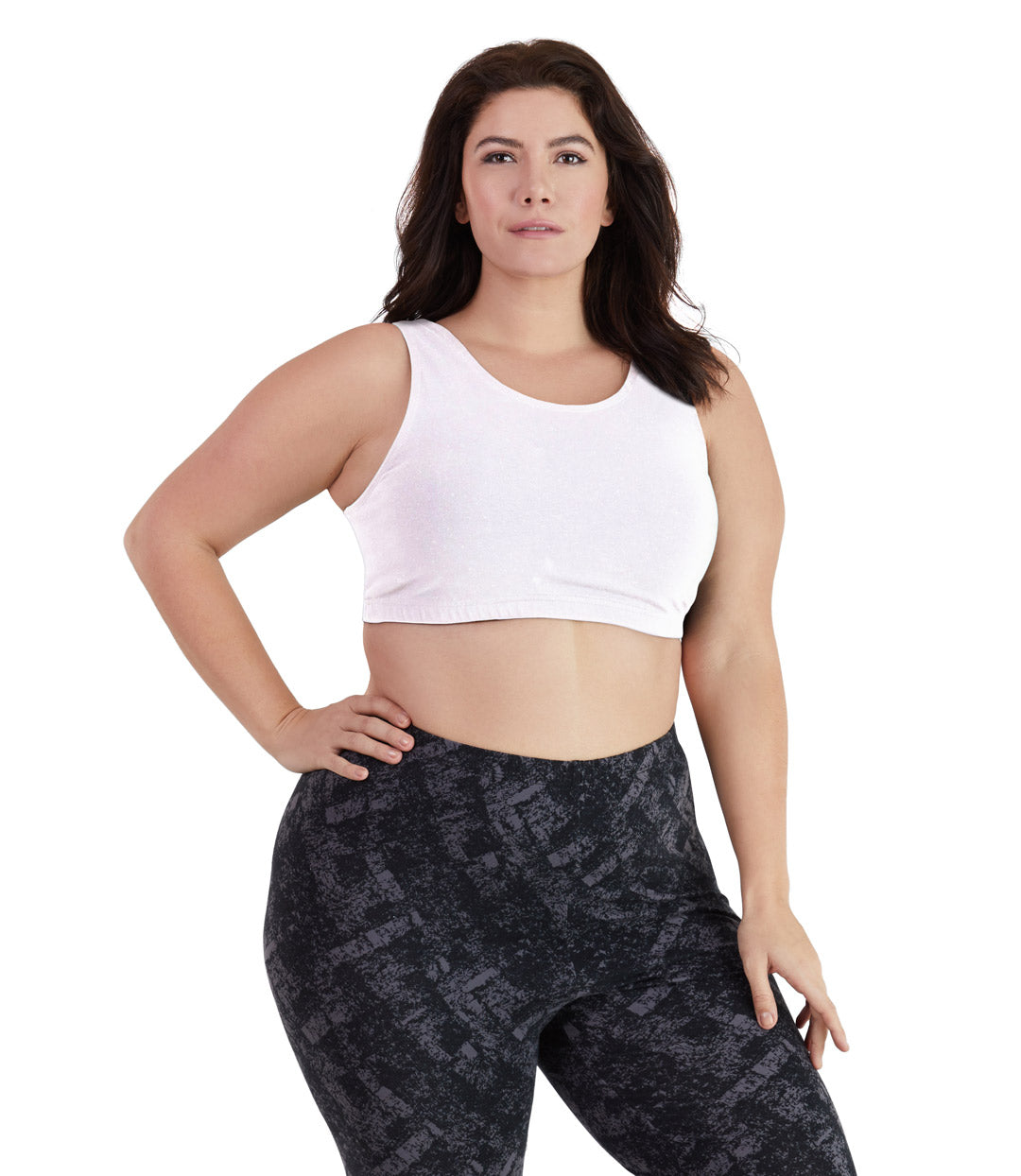 Plus size sports bras white cotton