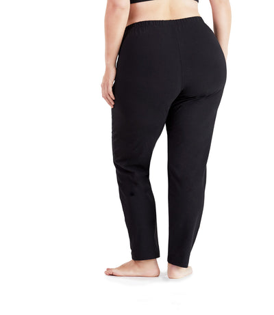 black plus size yoga pant