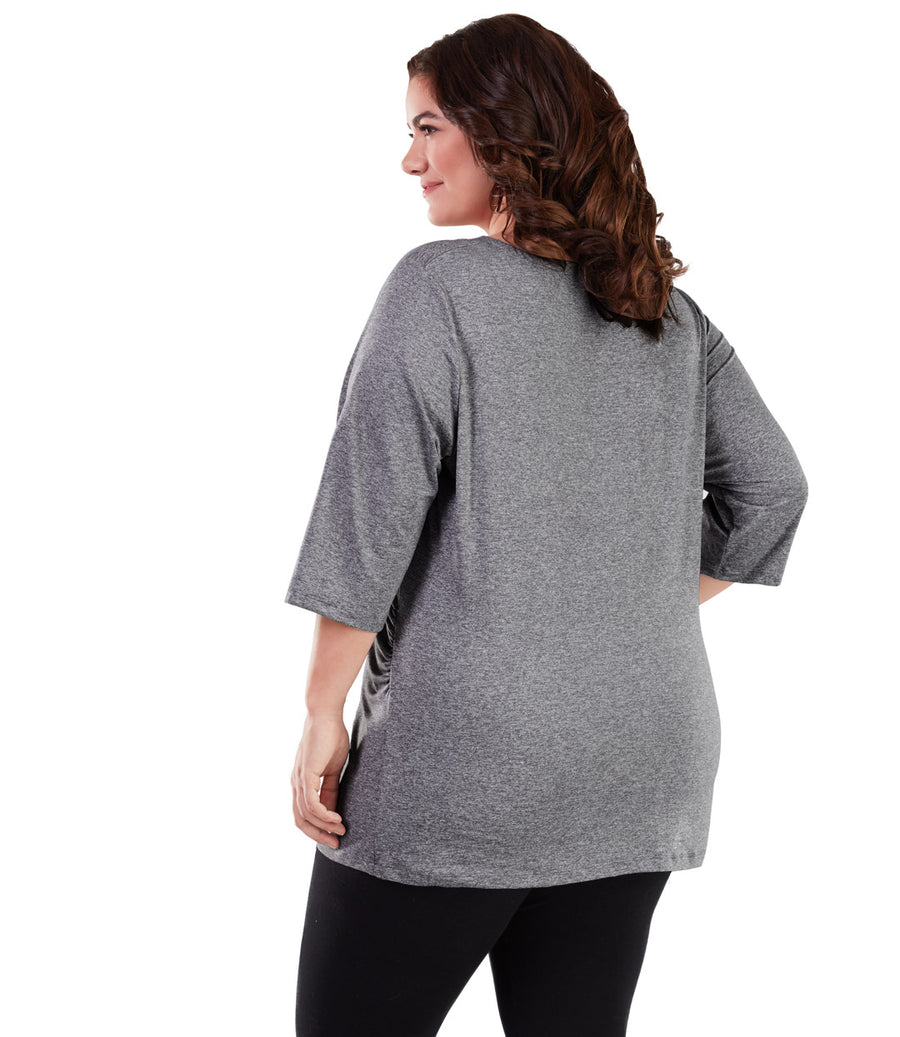 SoftWik® 3/4 Sleeve Surplice Top