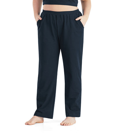 UltraKnit™ Slash Pocket Pant-Plus Size Activewear & Athletic Clothing-Paddy Lee-1X-Average-DEEP NAVY-JunoActive