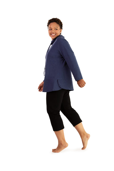 Stretch Naturals Cowl Top-Plus Size Activewear & Athletic Clothing-Paddy Lee-JunoActive