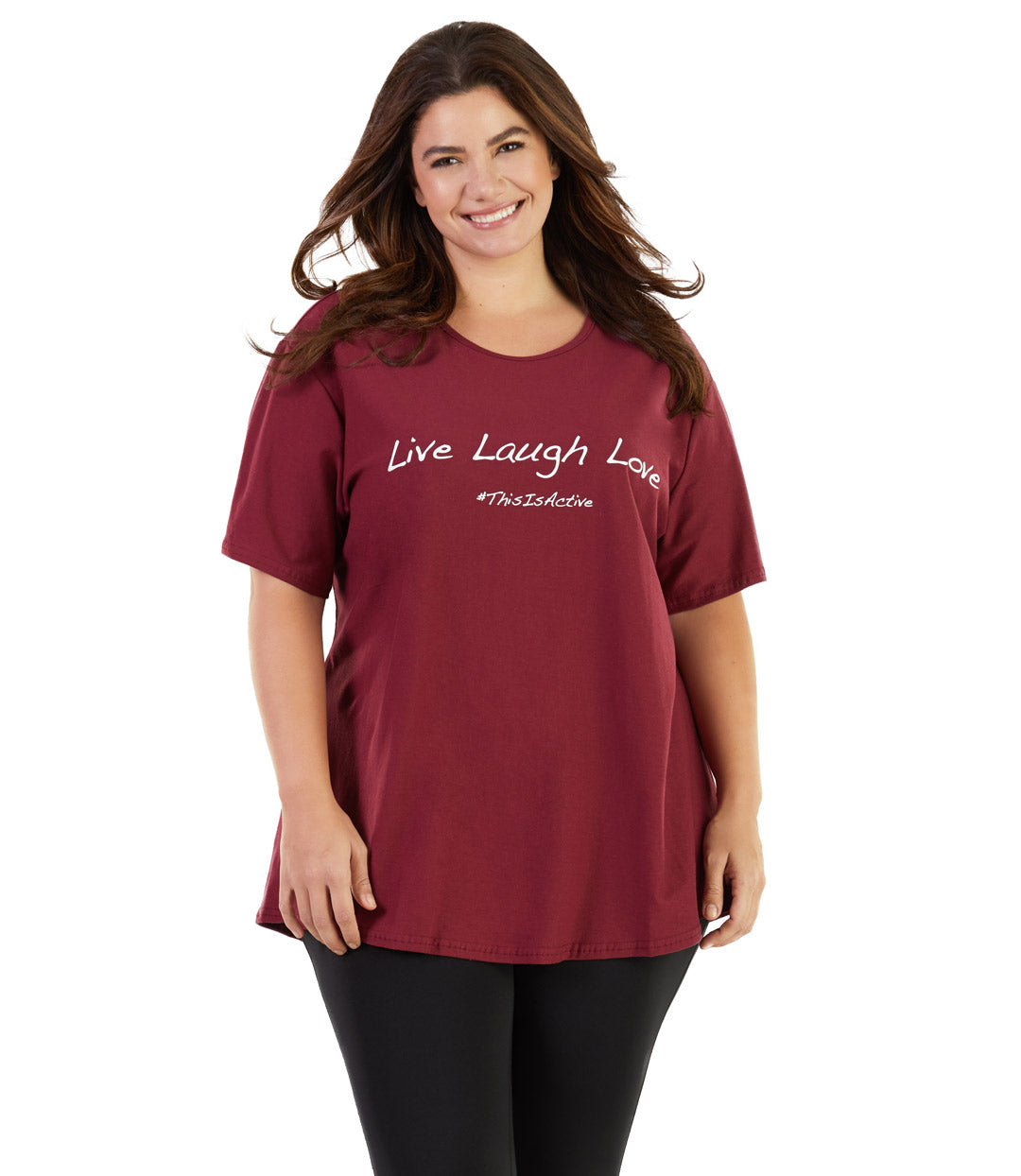 plus size activewear top tee