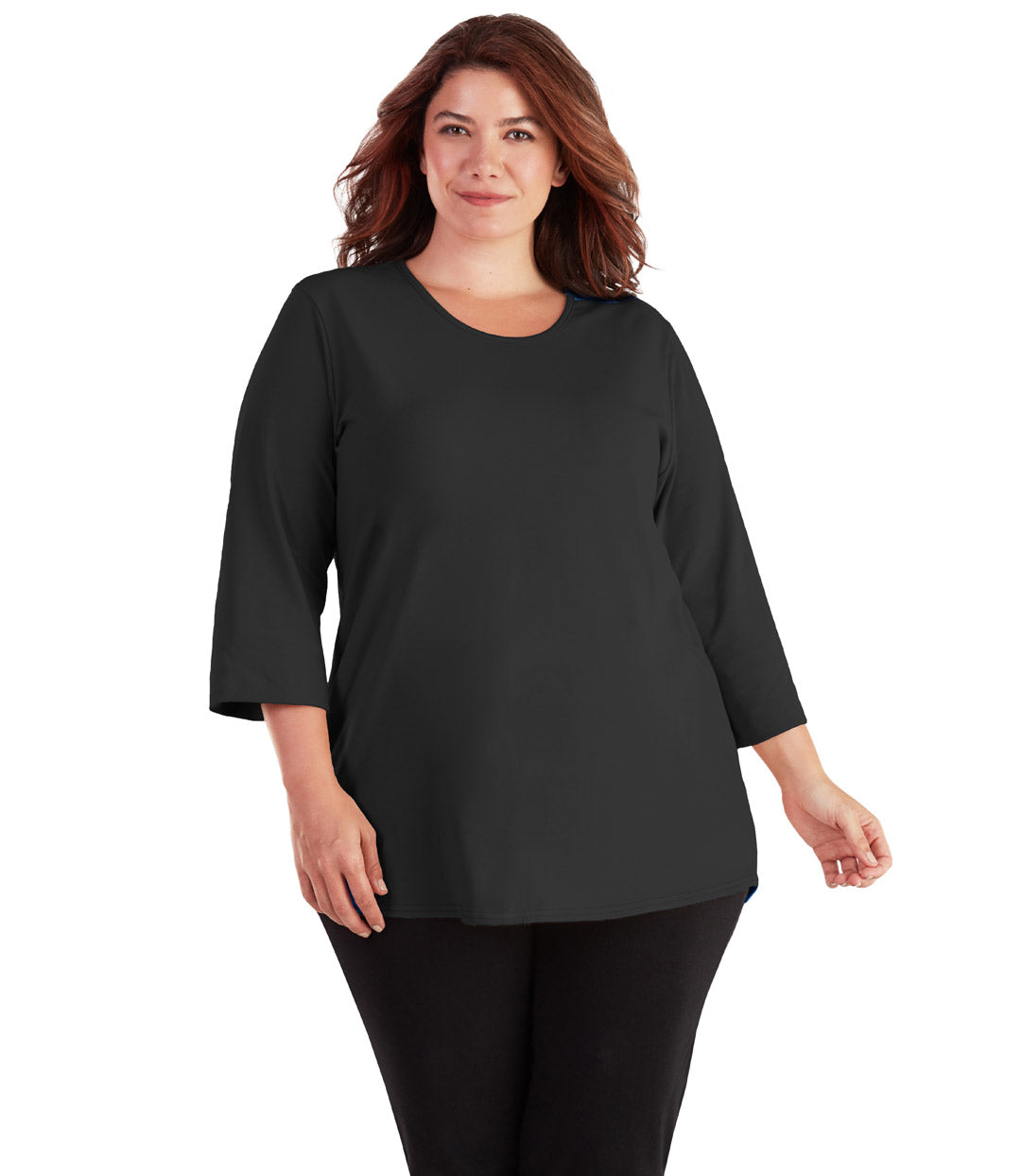 plus size yoga clothes black top