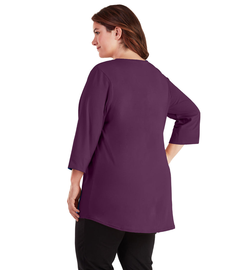 Stretch Naturals 3/4 Sleeve Tunic - JunoActive