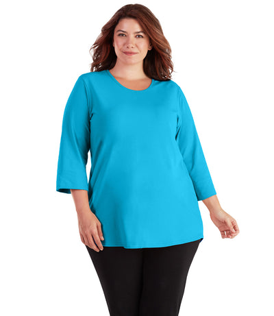 plus size activewear top tunic