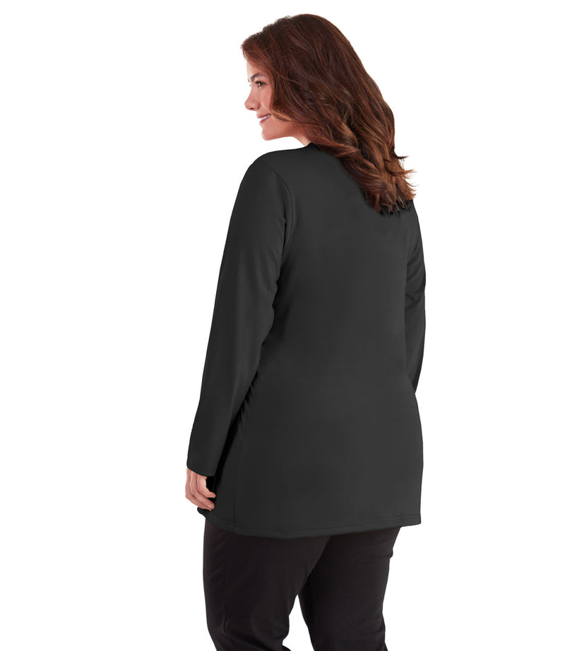 plus size long sleeve top for women black
