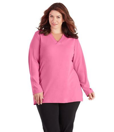 plus size top for women long sleeve