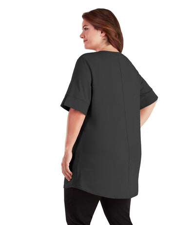 plus size tunics for leggings black