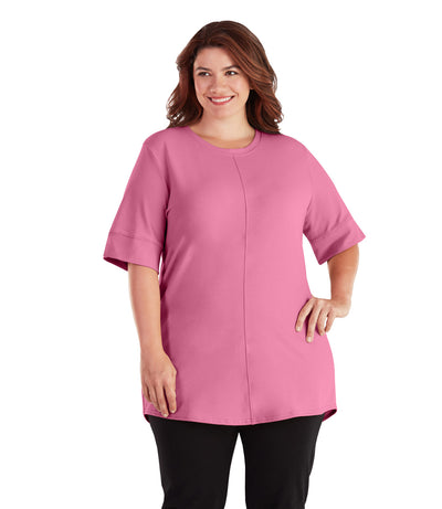 plus size activewear tunics for leggings