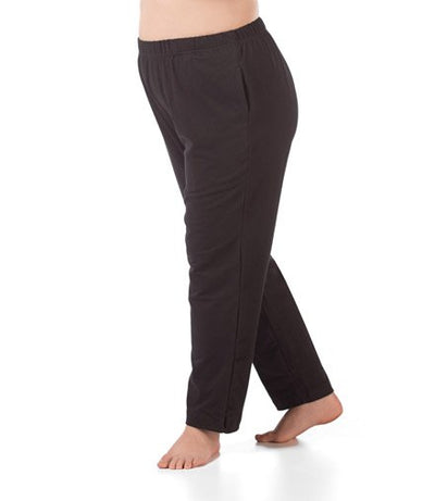 women's plus size pant with pockets black