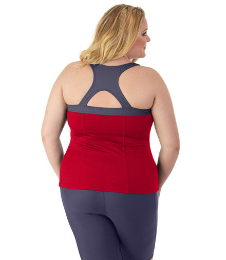 QuikEnergy™ Crossback Tankini With Built In Bra