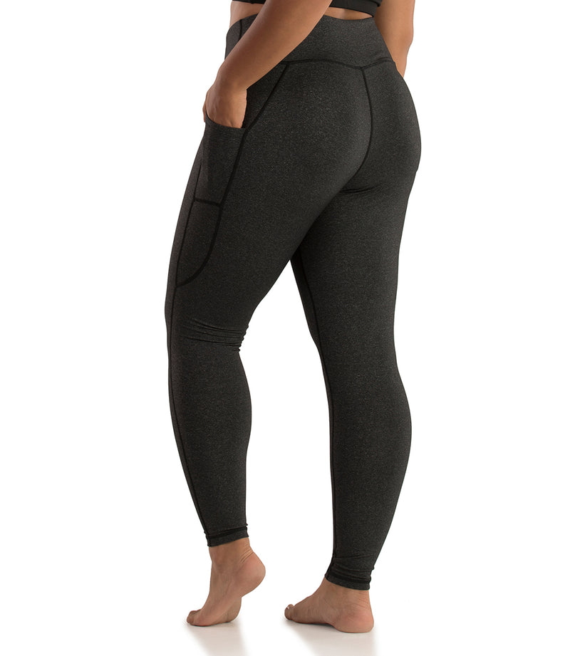Side Pocket Legging-Plus Size Activewear & Athletic Clothing-Osheka, Inc-JunoActive