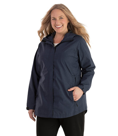 Waterproof Breathable Plus Size Wind & Rain Jacket-Plus Size Outerwear Clothing-Hangzhou Yelta Import and Export Co.,Ltd-JunoActive