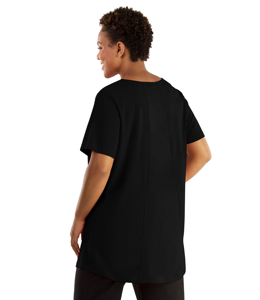 Stretch Naturals Lite Swing Top-Plus Size Activewear & Athletic Clothing-Hop Wo Trading Co Ltd-XL-BLACK-JunoActive