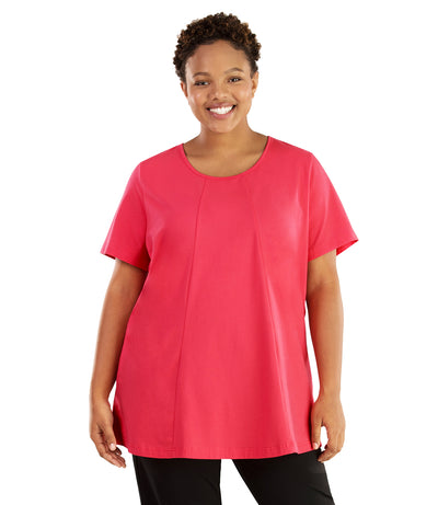 Stretch Naturals Lite Swing Top-Plus Size Activewear & Athletic Clothing-Hop Wo Trading Co Ltd-XL-PINK-JunoActive