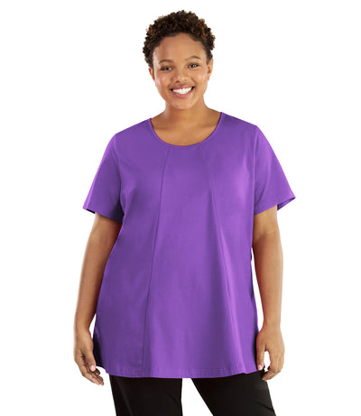 Stretch Naturals Lite Swing Top-Plus Size Activewear & Athletic Clothing-Hop Wo Trading Co Ltd-XL-PURPLE-JunoActive
