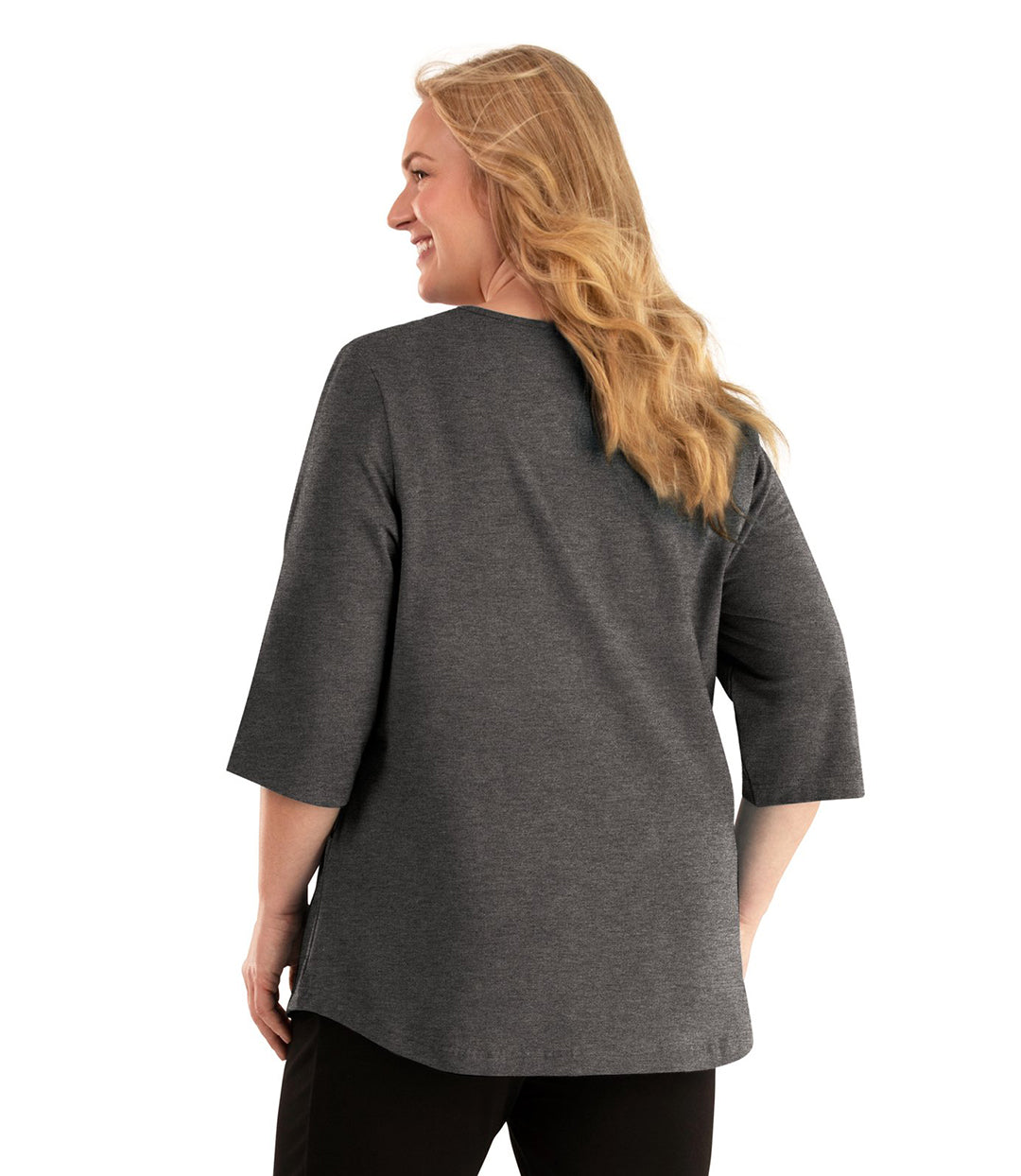 Stretch Naturals Pocketed Top-Plus Size Activewear & Athletic Clothing-Hop Wo Trading Co Ltd-XL-GREY-JunoActive