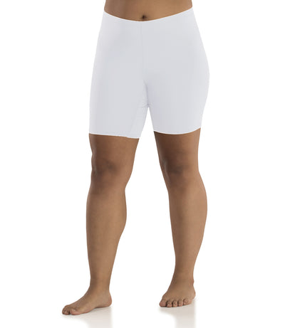 Junowear Hush Boxer Brief-Plus Size Underwear & Intimates-Hop Wo Trading Co Ltd-1X-WHITE-JunoActive