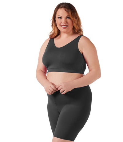 Junowear® Hush V-neck Bra-Plus Size Underwear & Intimates-Hop Wo Trading Co Ltd-1X-BLACK-JunoActive