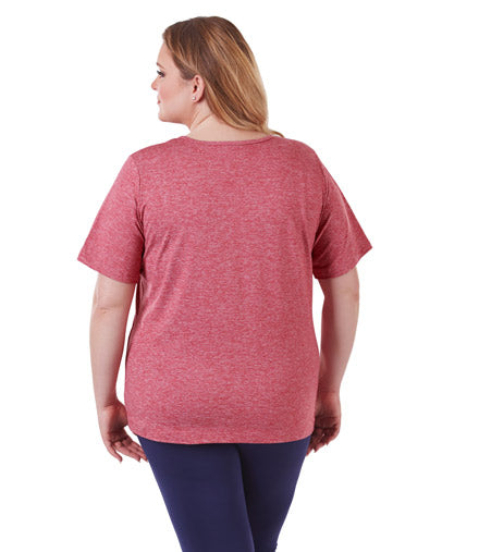 SoftWik Basic V-Neck Tee Red