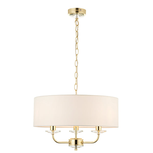 Brass 3 Light Ceiling Lamp