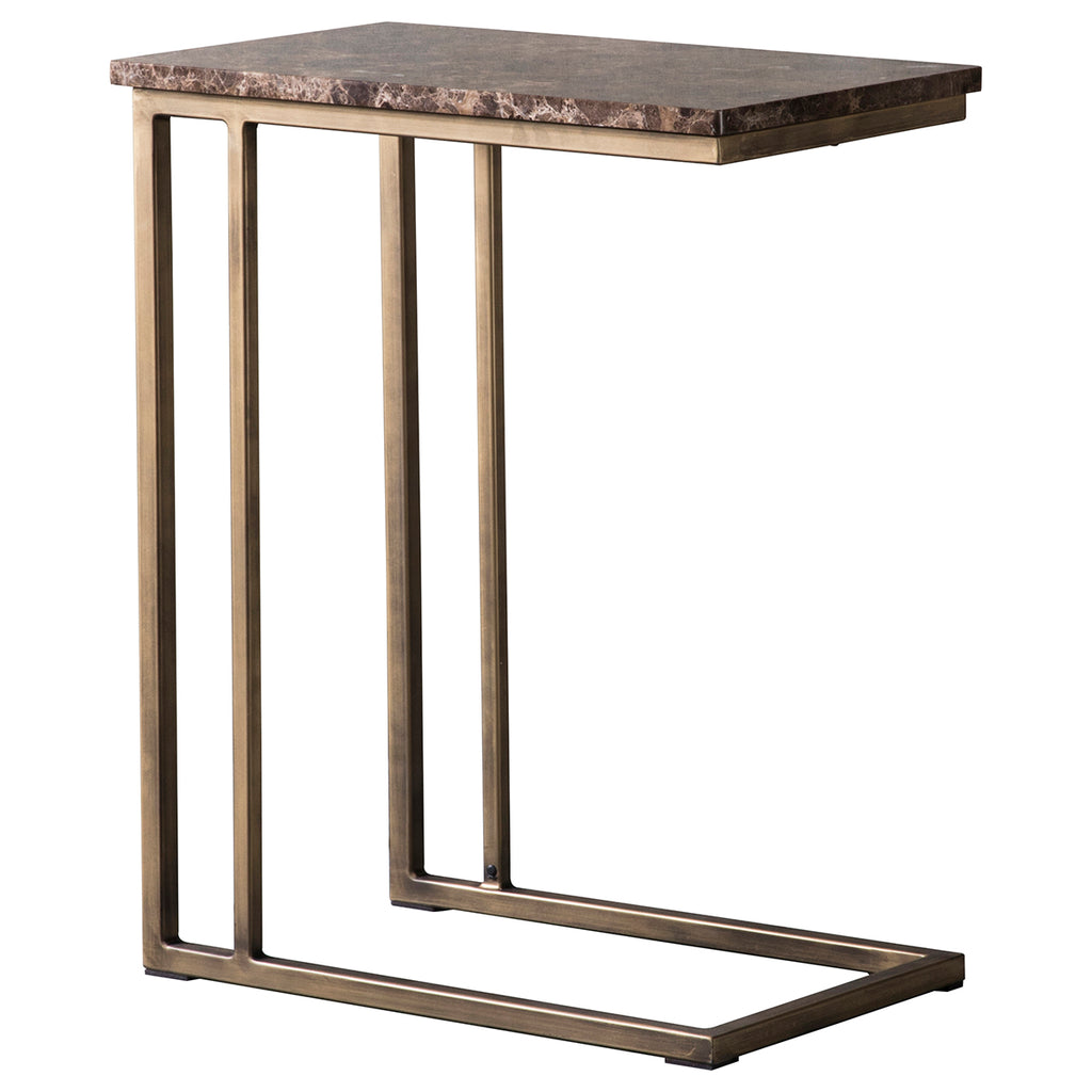 Rich Brown Marble Supper Table