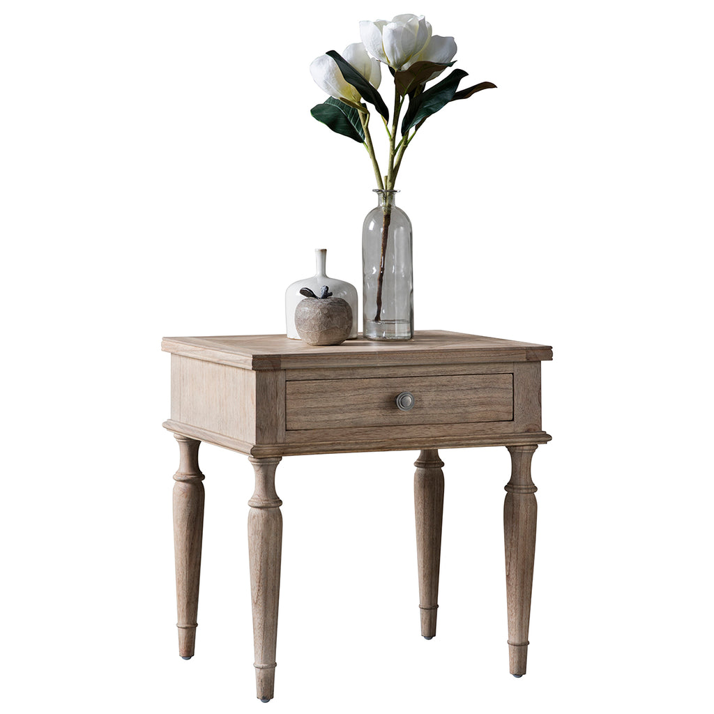 Henrique 1 Drawer Side Table