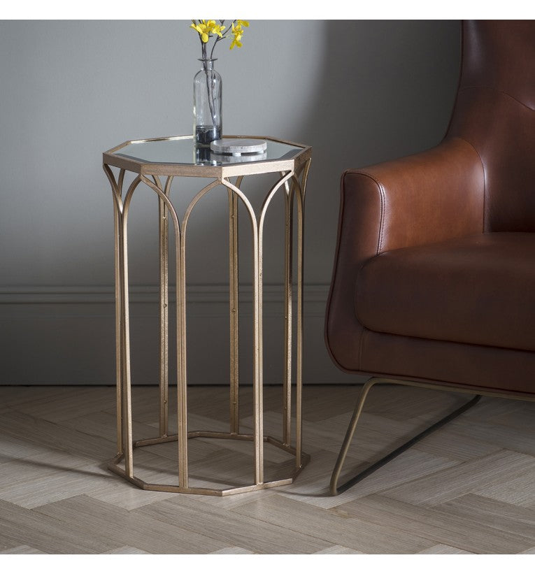 Gold Octagonal Side Table