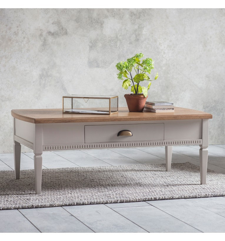 1 Drawer Coffee Table Taupe