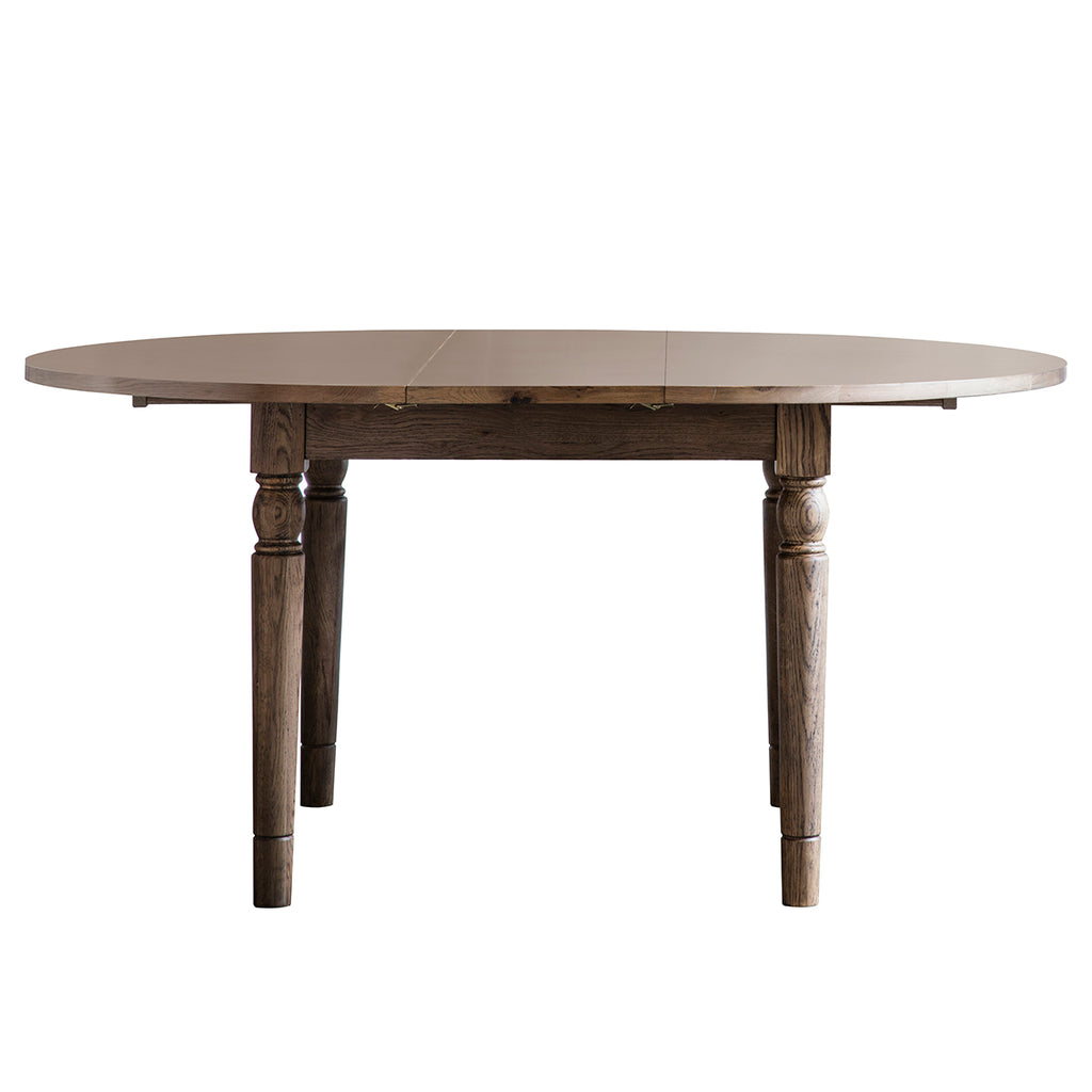 Gresham Round Extending Dining Table Oak