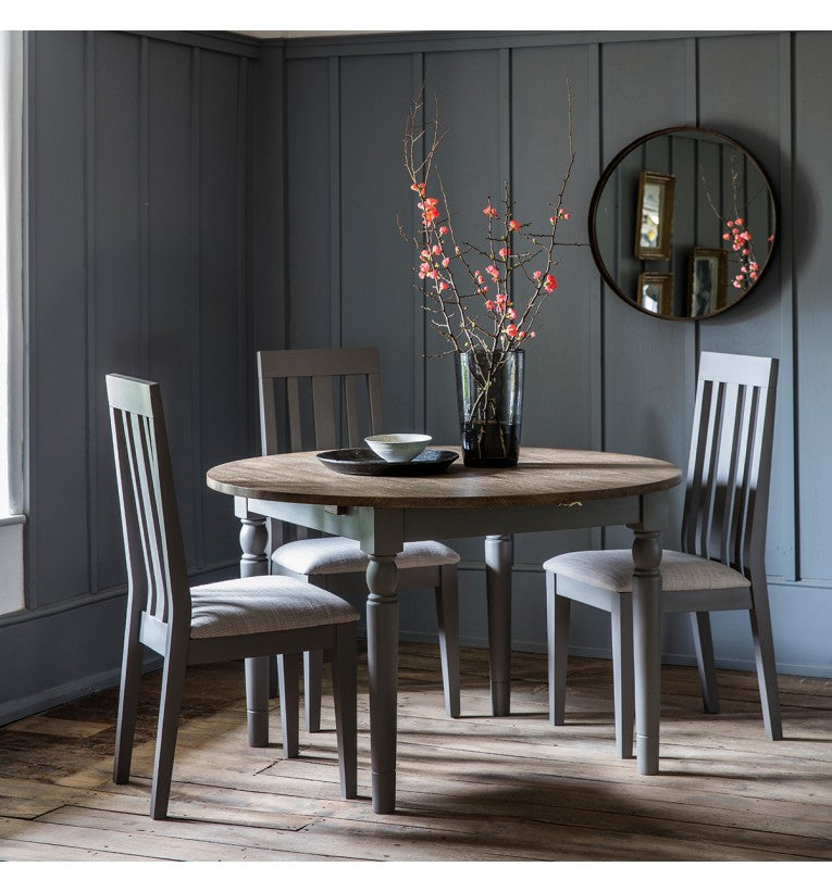 Gresham Round Extending Dining Table Grey