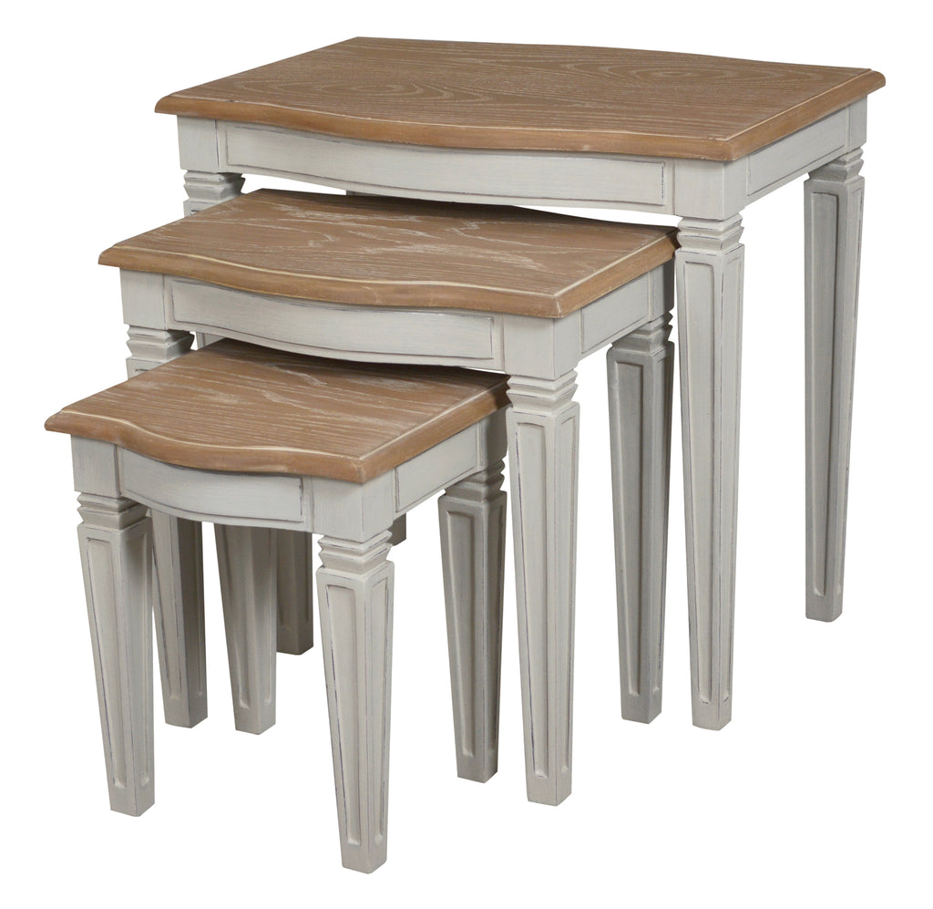 Arabella Wood Top Nest of Tables