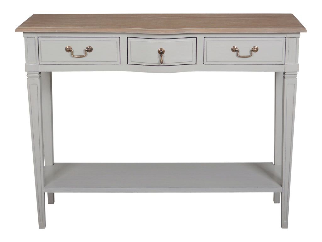 Arabella Double Console with Wood Top