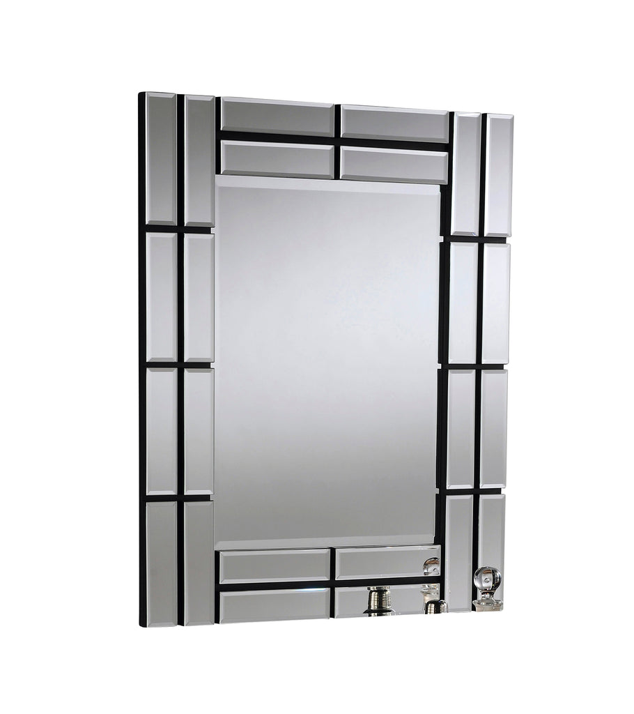 Pattered Square Frame Art Deco Wall Mirror