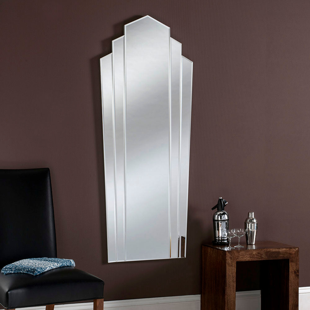 Vertical Art Deco Fan Mirror