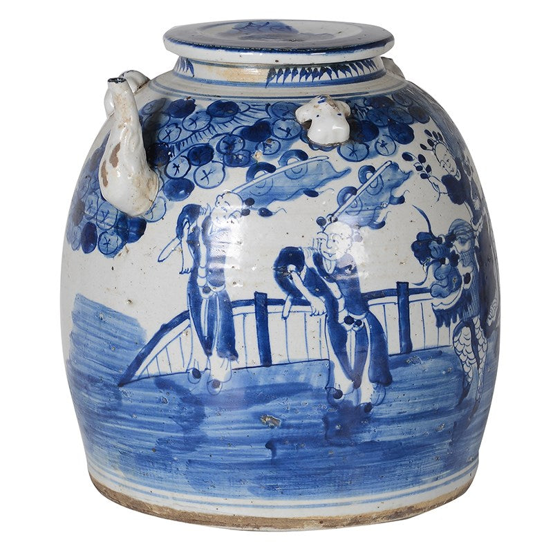 Blue and White Kettle Pot