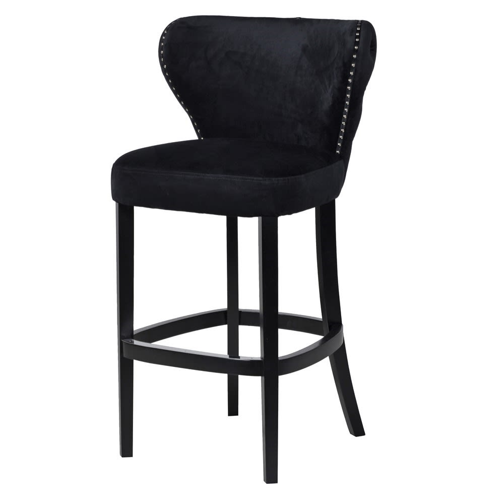 Black Velvet Bar Chair