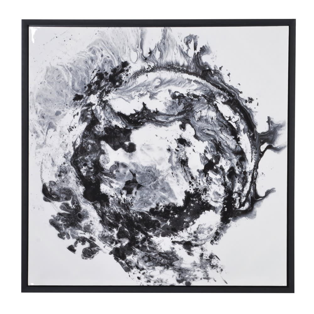 Black & White Abstract Framed Canvas