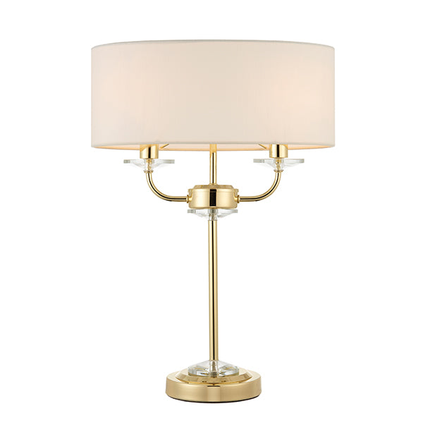 Brass 2 Light Table Lamp