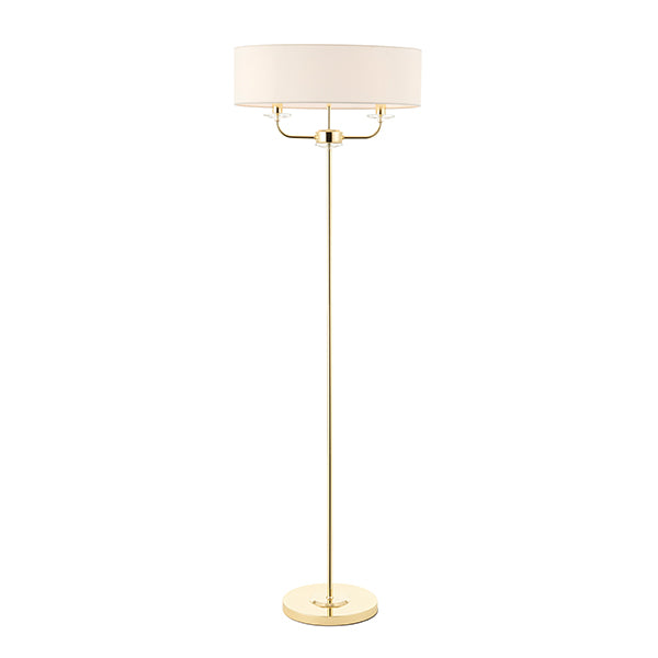 Brass 2 Light Floor Lamp