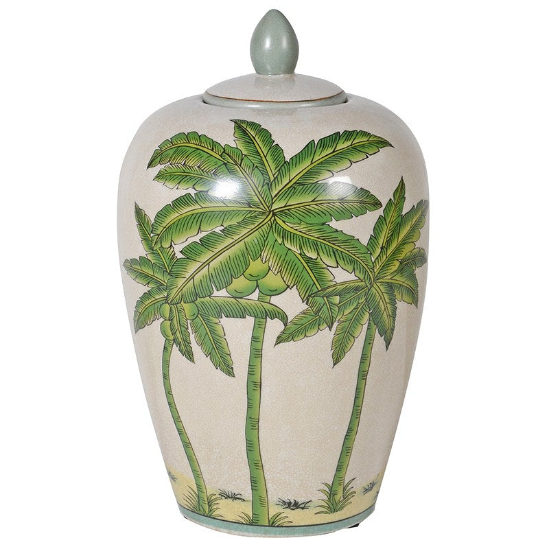 Small Colonial Crackle Ceramic Ginger Jar
