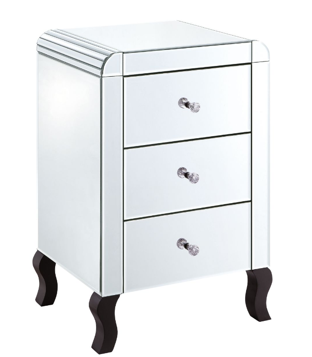 Deco Clear 3 Drawer Bedside