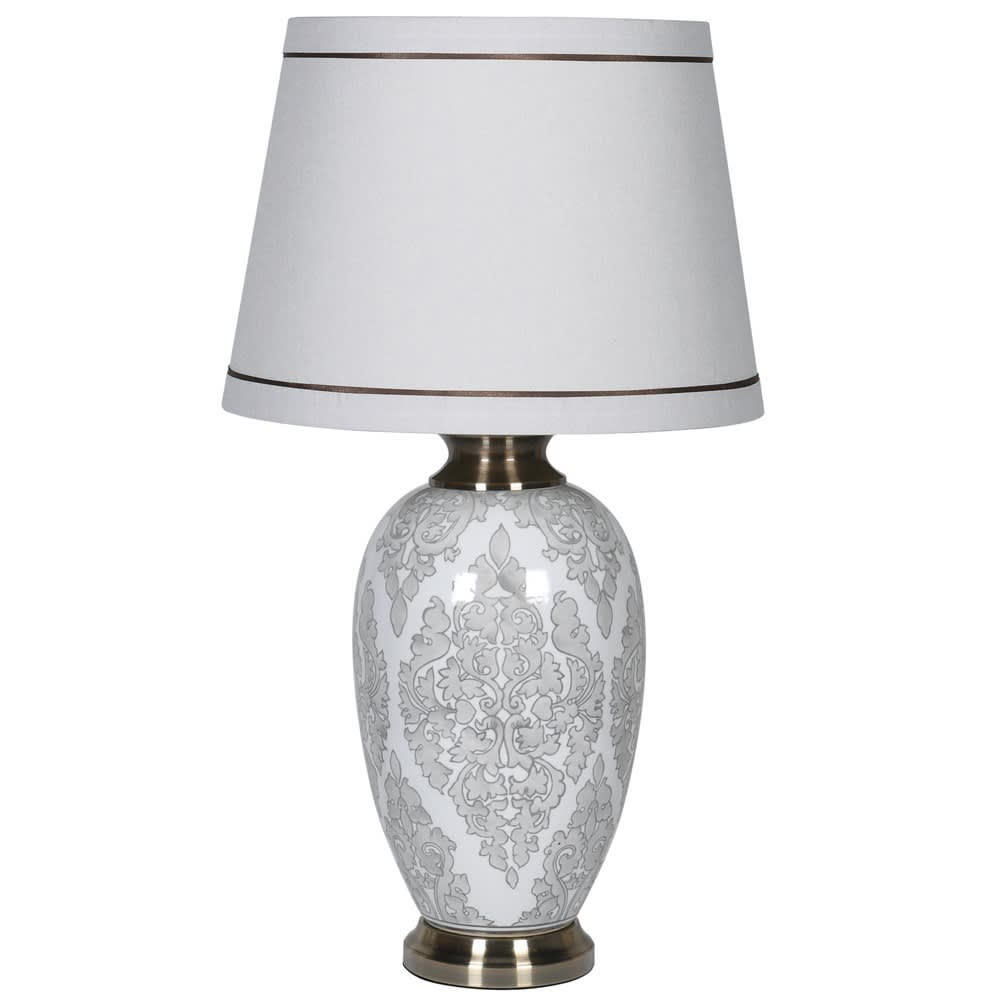Dove Grey Lamp with Shade