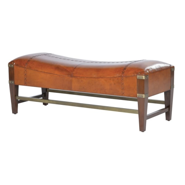 Jaipur Leather Shaped Bench