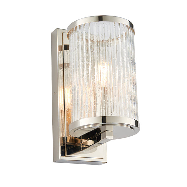 Cylinder Ribbed Glass Wall Light