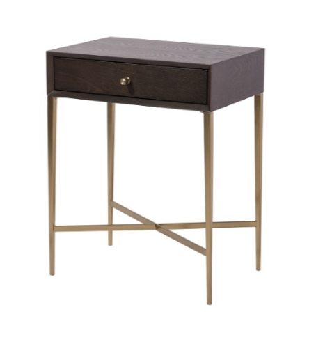 1 Drawer Chocolate Side Table