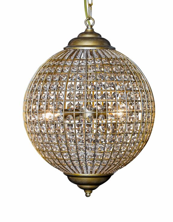Large Gold Globe Chandelier