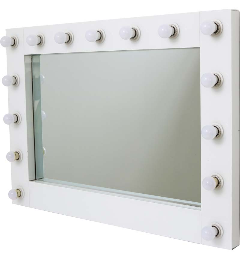 Hollywood 15 Bulb White Mirror
